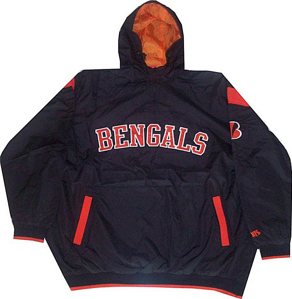 Cincinnati Bengals NFL Mens Windbreaker Jacket Black Big &Tall Sizes