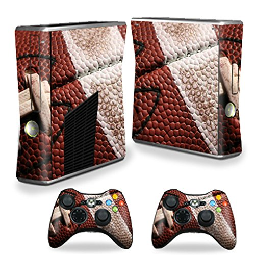 Mightyskins Protective Vinyl Skin Decal Cover for Microsoft Xbox 360 S Slim + 2 Controller skins wrap sticker skins Football (Skin 360 Xbox Controller Nfl)