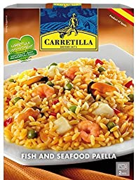CARRETILLA from Spain, Ready to Eat  Fish & Seafood Paella, shelf stable. Ready in 2 minutes, 8.82 oz/250g