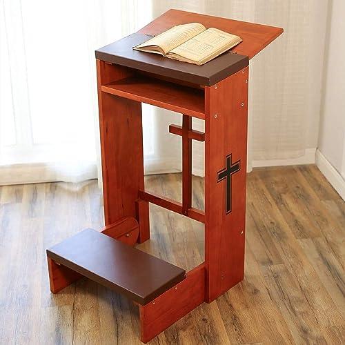 Prayer s Kneeler Prayer Bench Stool Table Chair Padded Kneeler Shelf Folding Wooden Church