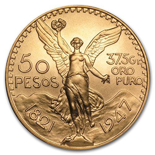 1947 MX Mexico Gold 50 Pesos BU Gold Brilliant Uncirculated