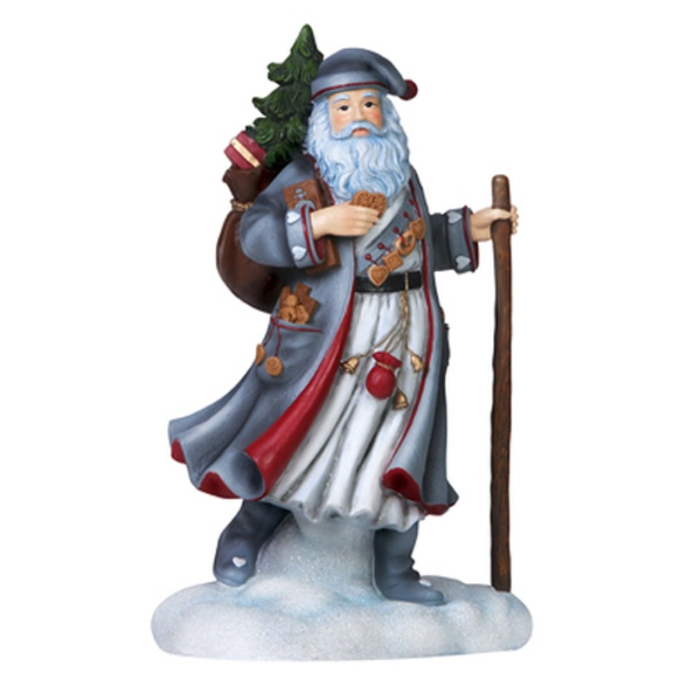 "Pipka, Christmas Gifts, ""Springerle Santa"", Limited Edition Resin Sculpture, #7151202"