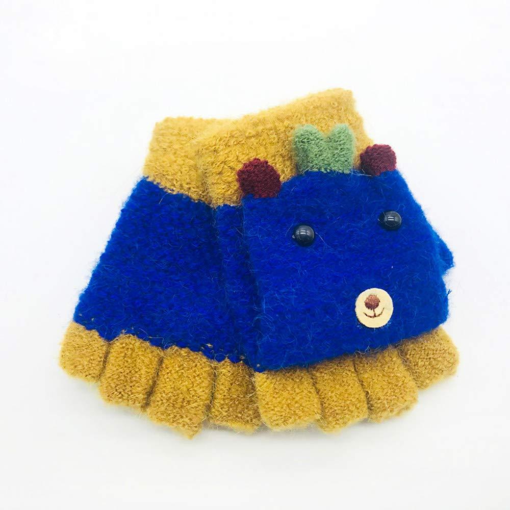 Baby Gloves, Winter Baby Golves Children Anti Scratch Thicken Warm Glove, Covermason Cute Thicken Infant Baby Kids Toddler Winter Warm Gloves (K) covermason Eye Shadow