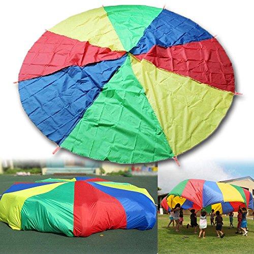 HANGQI R 2M Grande Lecture Colorful Parachute Enfants Enfants Jeu extérieur Exercice Sport Jouet
