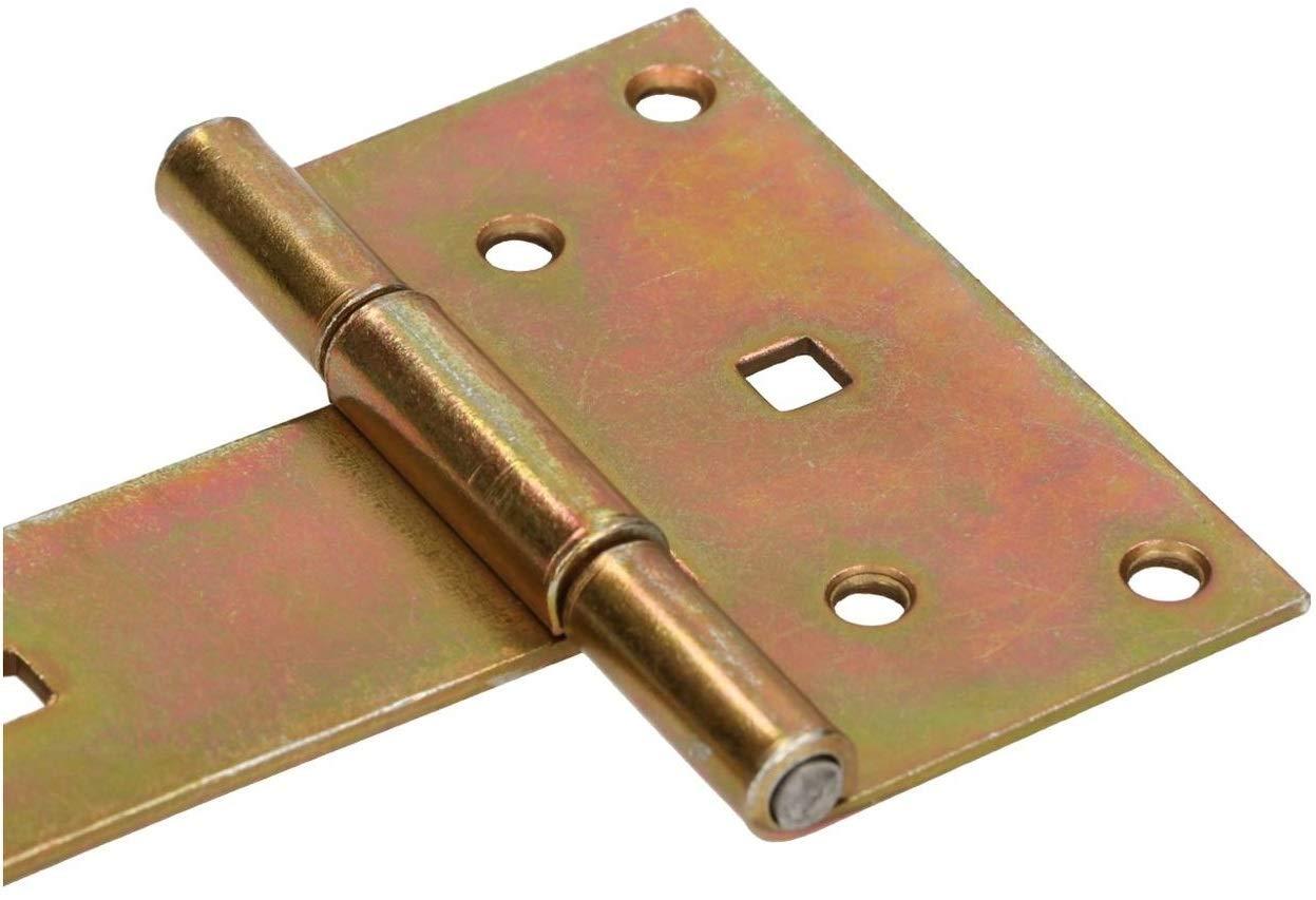 400 mm Ladenband Torscharnier T/ürband Werfgeh/änge Scharnier Baubeschlag Gartentorband Gartentorfalle Verzinkt Gold 300 mm KOTARBAU Kreuzgeh/änge 100