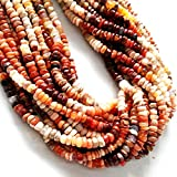 """Natural MEXICAN FIRE OPAL smooth beads,rondelles beads,very nice quality, size -- 3 mm to 5 mm,13"""" strand"""