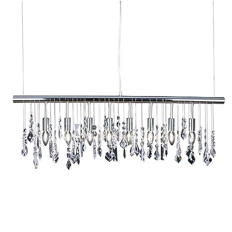 Modern k9 crystal pendant light e12 ceiling lighting drop chandelier modern k9 crystal pendant light e12 ceiling lighting drop chandelier lamp 40quot hanging lights chrome aloadofball Images
