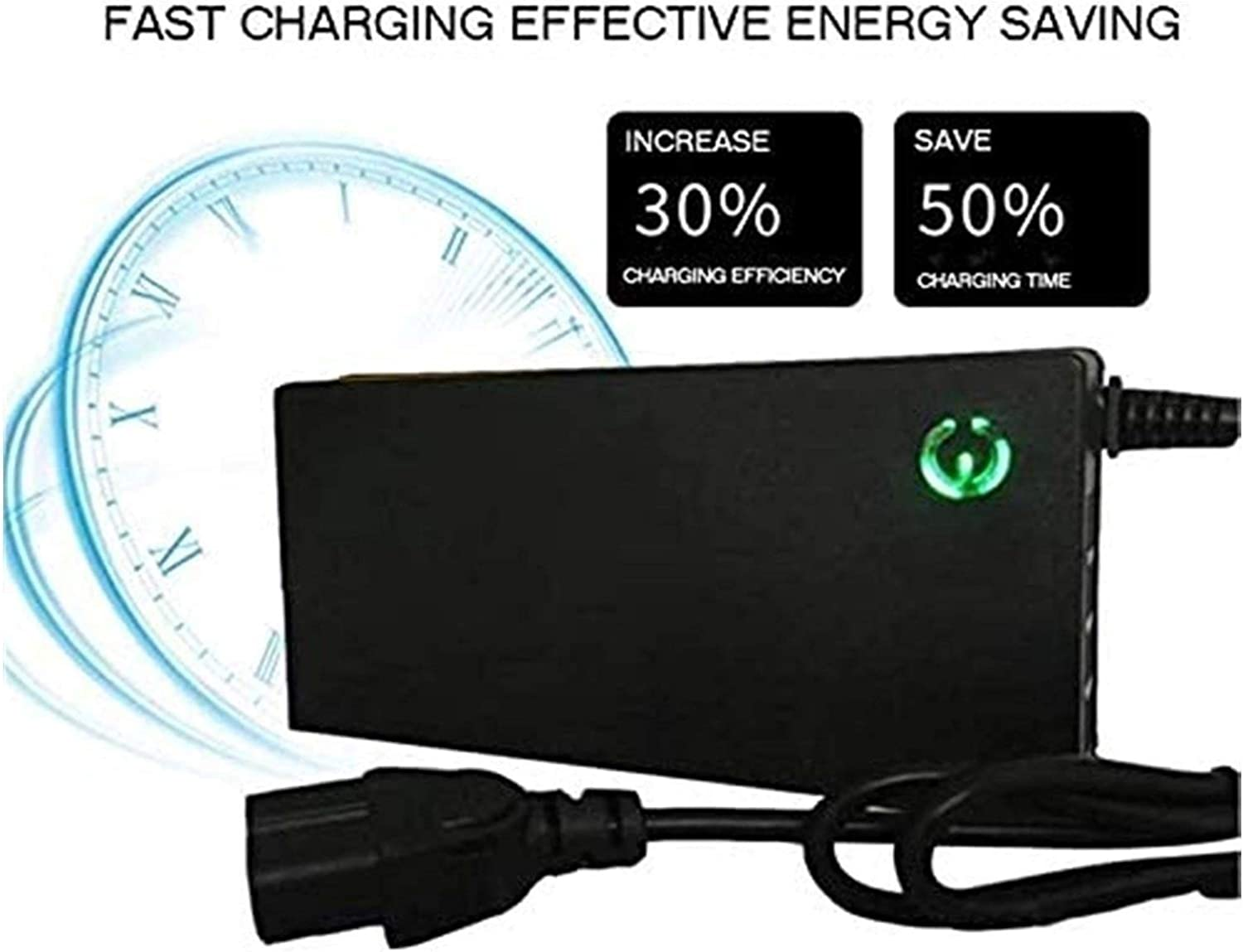 48V 2A//3A//5A Battery Charger Electric Bike Scooter Battery Charger 58.8V Lithium Battery Pack Plug Power Cable Color : 2a, Size : A