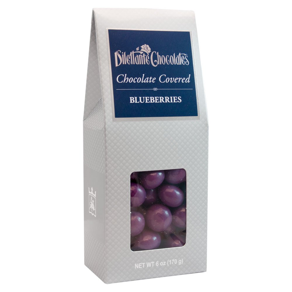 Chocolate Covered Blueberries in Premium Chocolate - 6 oz Gift Box - by Dilettante (4 Pack)
