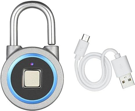 Pomya Fingerabdruck-Vorh/ängeschloss Smart Keyless Lock Fingerabdruck Smart Keyless Waterproof Bluetooth Lock APP Control Sicherheit Diebstahlsicheres Vorh/ängeschloss