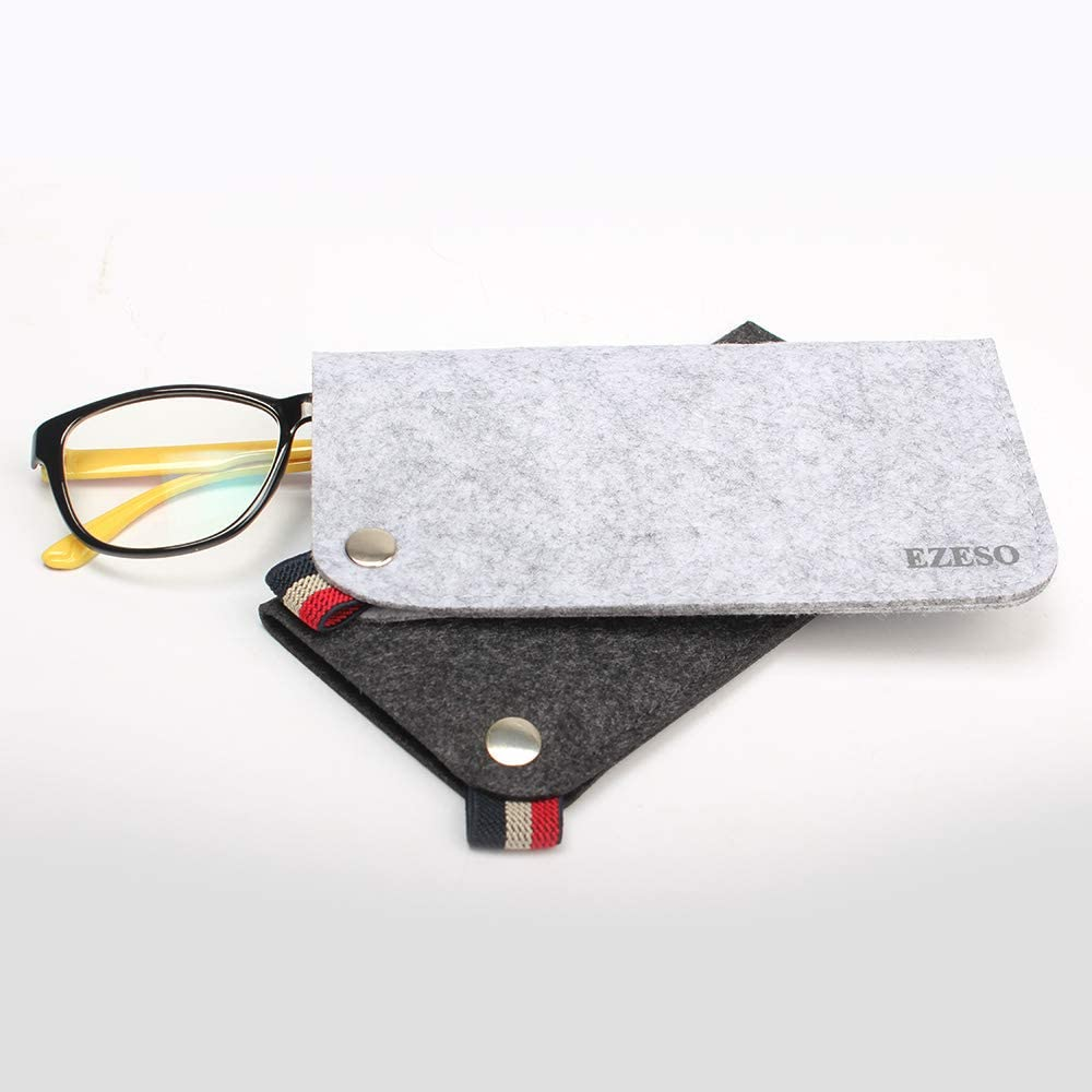 EZESO 3 pezzi morbida occhiali custodia Occhiali da sole Custodia portatile morbida per occhiali da tasca
