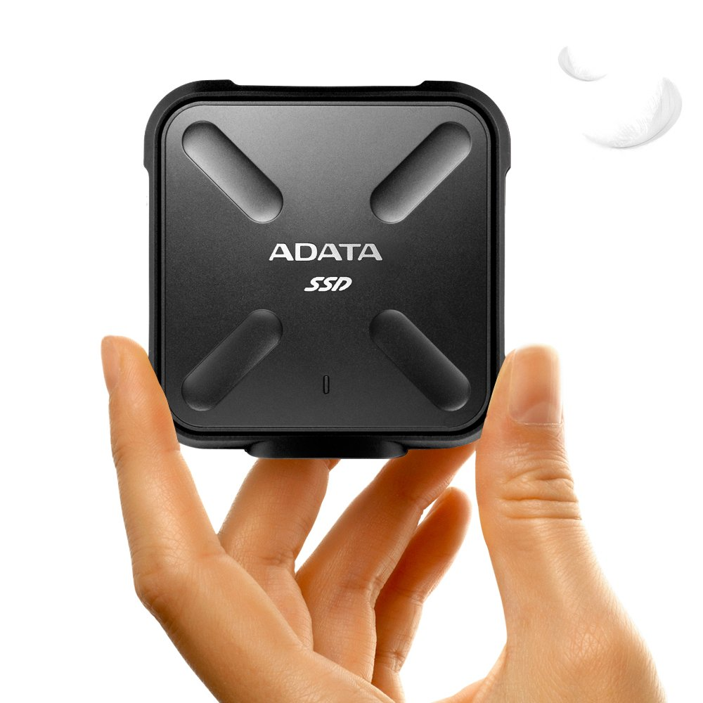 ADATA SD700 3D NAND 1 TB Ruggedized Water/Dust/Shock Proof External Solid State Drive Black (ASD700-1TU3-CBK) by ADATA (Image #5)