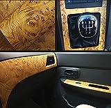 Moyishi Wood Grain Vinyl Sticker Decal Roll Car Interior Home Office Furniture DIY Film Wrap 30cmx100cm (Yellow)