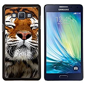 """Be-Star Único Patrón Plástico Duro Fundas Cover Cubre Hard Case Cover Para Samsung Galaxy A7 / SM-A700 ( Feliz piel del tigre animal anaranjada linda"""" )"""