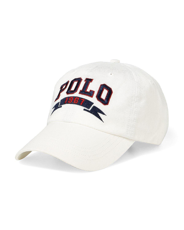 Ralph Lauren Polo Casquette Sport - Polo 1967 Sports Cap (White ...
