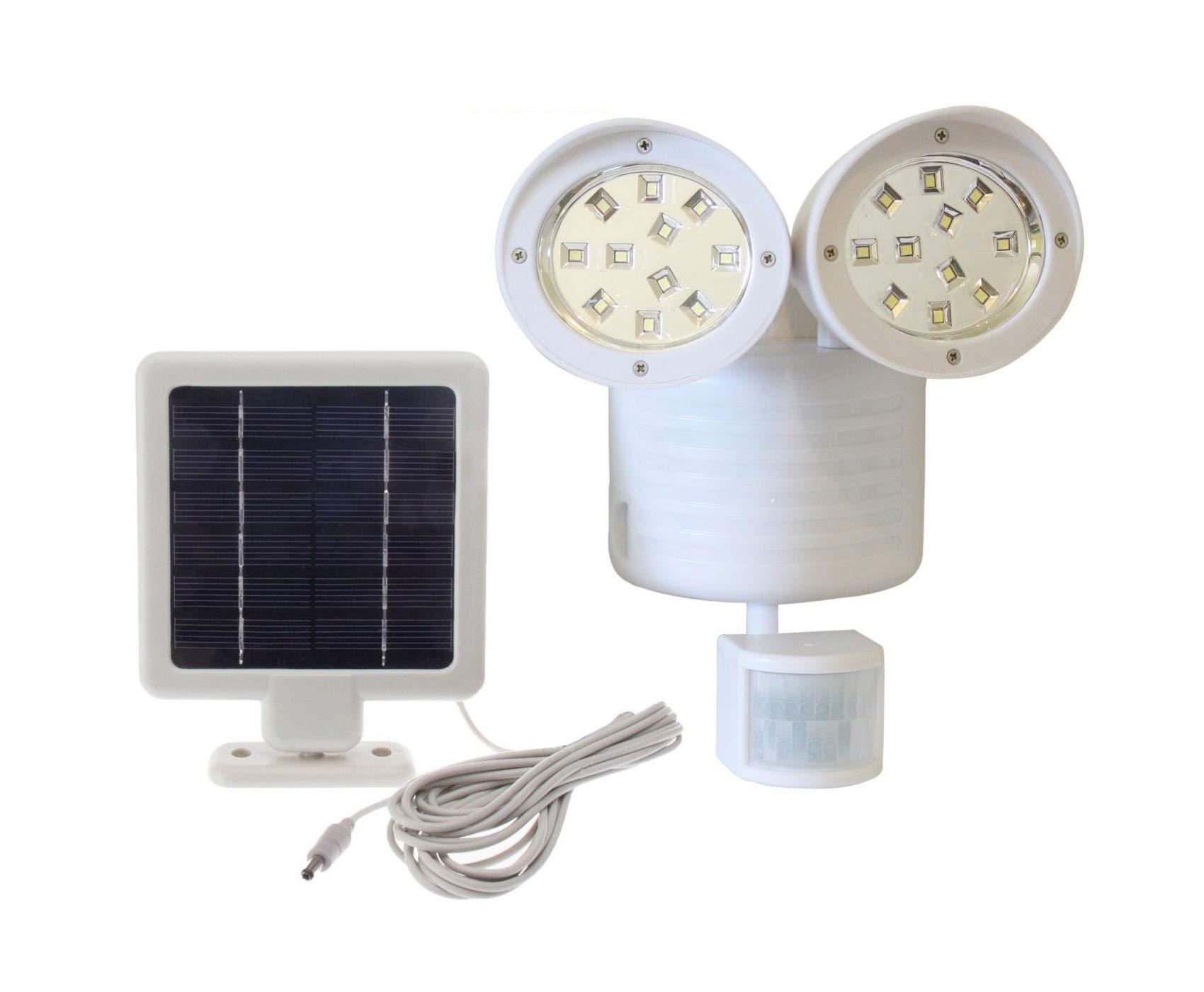 Upgrade Solar Powered Motion Sensor Lights 22 SMD Garage Outdoor Security Flood Spot Light (White)