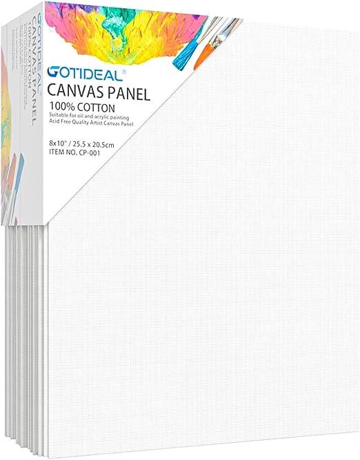 Fascigirl 10PCS Canvas Panels Blank Painting Panels Painting Canvas Pack Canvas Board