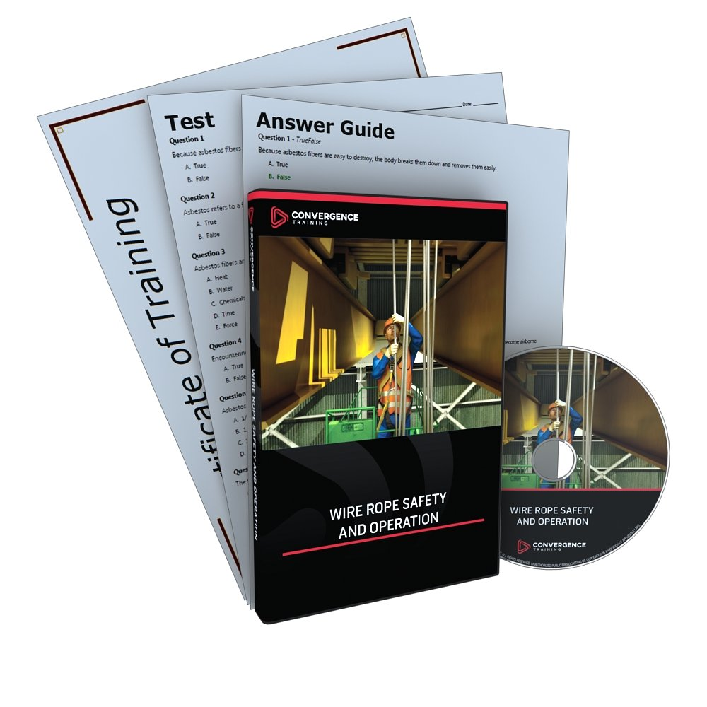 Convergence C-454 Wire Rope Safety and Operation Training Program DVD, 18 minutes Time