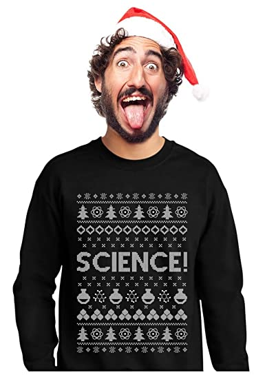 Teestars Science Ugly Christmas Sweater Funny Geeky Students Xmas