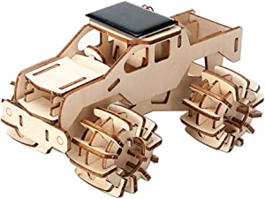 MINOSNEO 3D Wooden Puzzle Science Kit for Kids, Creative DIY Model Car Set to Build, Educational Stem Toys for 7 8 9 10 11 12 Year Old Boys and Girls as Christmas Birthday Gifts