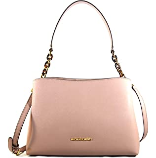 e1422b09d8d4 Michael Kors Sofia Large East West Saffiano Leather Satchel Crossbody Bag  Purse Tote Handbag