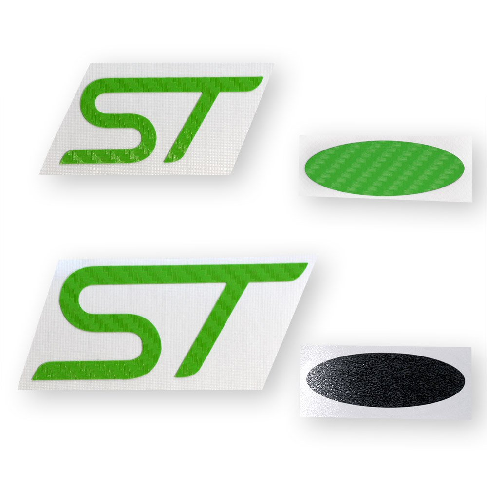 Ford focus st carbon fiber emblem insert decals 2013 2017 focus st ford focus st carbon fiber emblem insert decals 2013 2017 focus st only green gift present new free shipping from the usa buycottarizona Choice Image