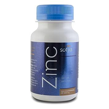 SOTYA - SOTYA Zinc 100 comprimidos de 500 mg: Amazon.es: Salud y cuidado personal