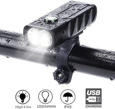 LED para Bicicleta, XMH Impermeable Faro de Bicicleta, Luz ...