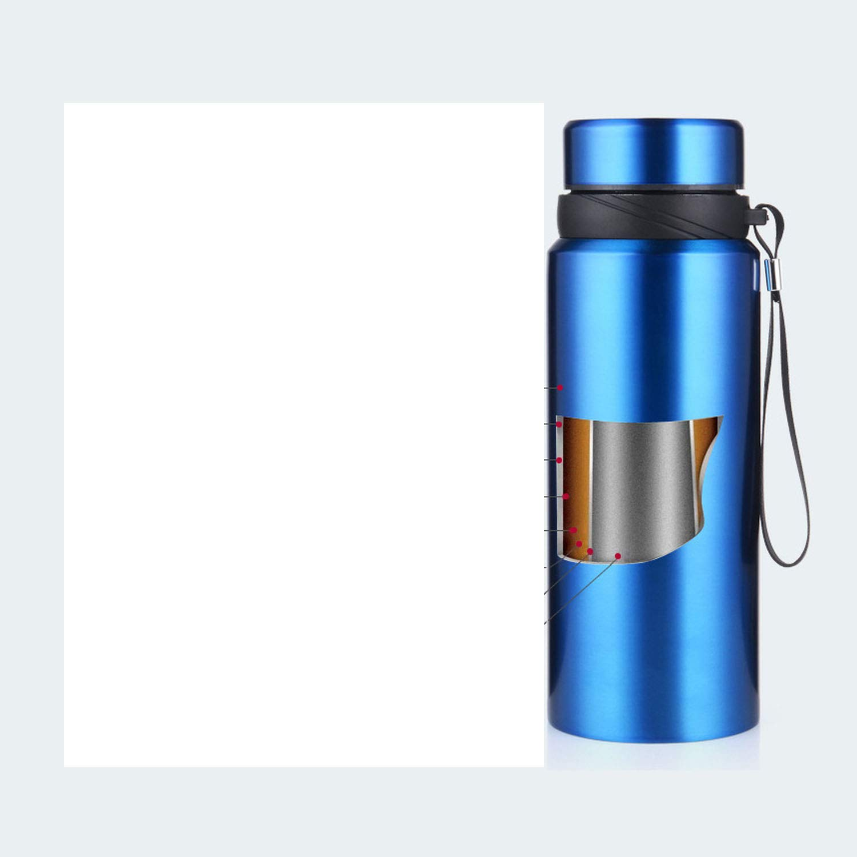 Amazon.com: 750 ml termo de pared doble portátil de acero ...
