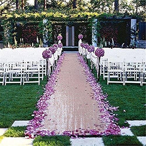 TRLYC 4FTX16FT Blush Pink Glitter Carpert Runner Sequin Aisles Floor Runner for Wedding for $<!--$38.97-->