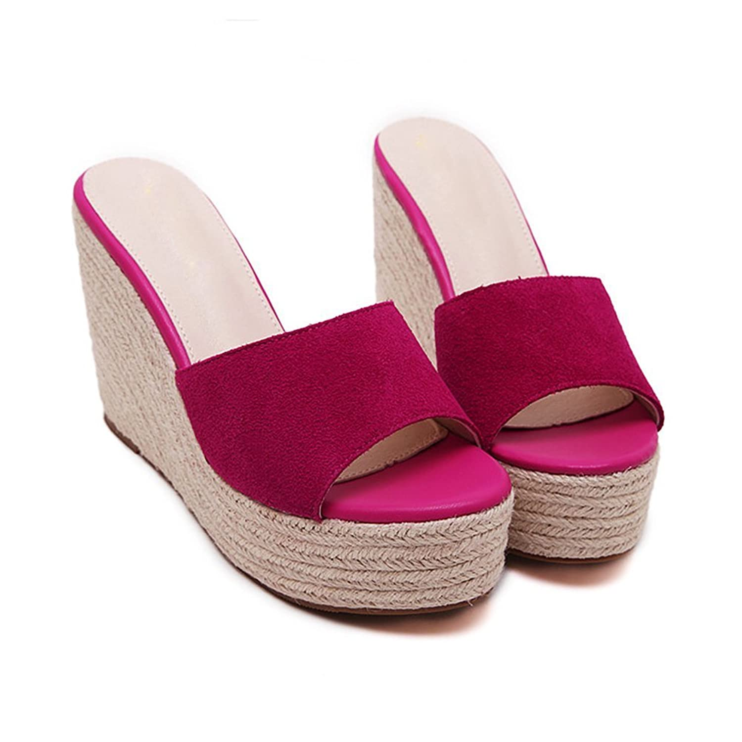 True Meaning New design Women's Suede Peep Toe Open Back