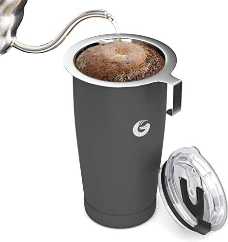 Pour Over Coffee Travel Mug - Coffee Gator all-in-one Travel Coffee Maker