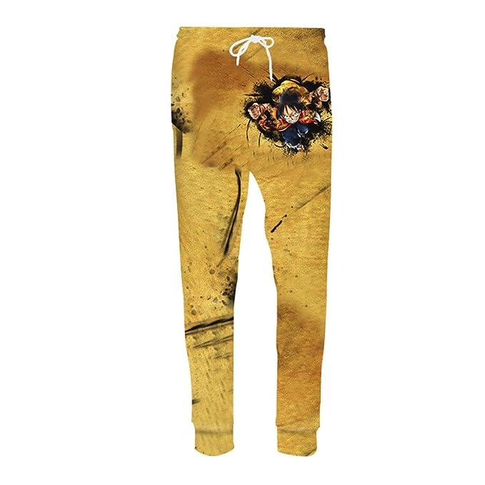 5b11e5b169f96 Pantalones Casual Hombres pantalón Fitness emparejador Anime Impresión 3D Sudor  Pantalones de Sudadera Hip Hop  Amazon.es  Ropa y accesorios