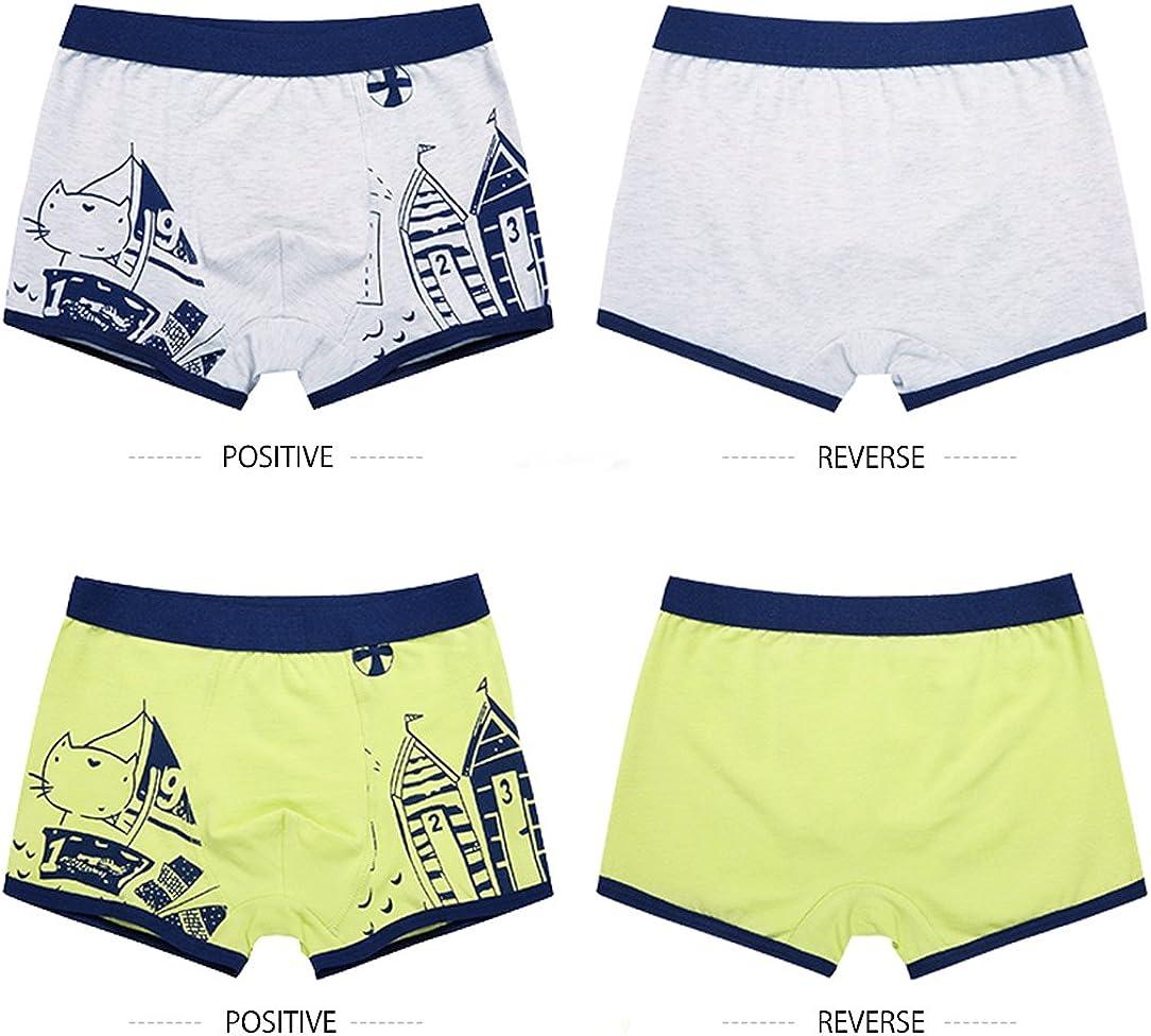 LeQeZe Boys Boxer Shorts 6 Pack Toddler Underwear Kids Briefs Cotton Underpants Size 2-11 Years