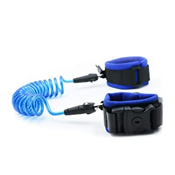 ZAXOP Baby Kid Wristband Leash Leash for Toddler,Anti Lost Wrist Link with Safety Lock 7.5 Ft- Blue