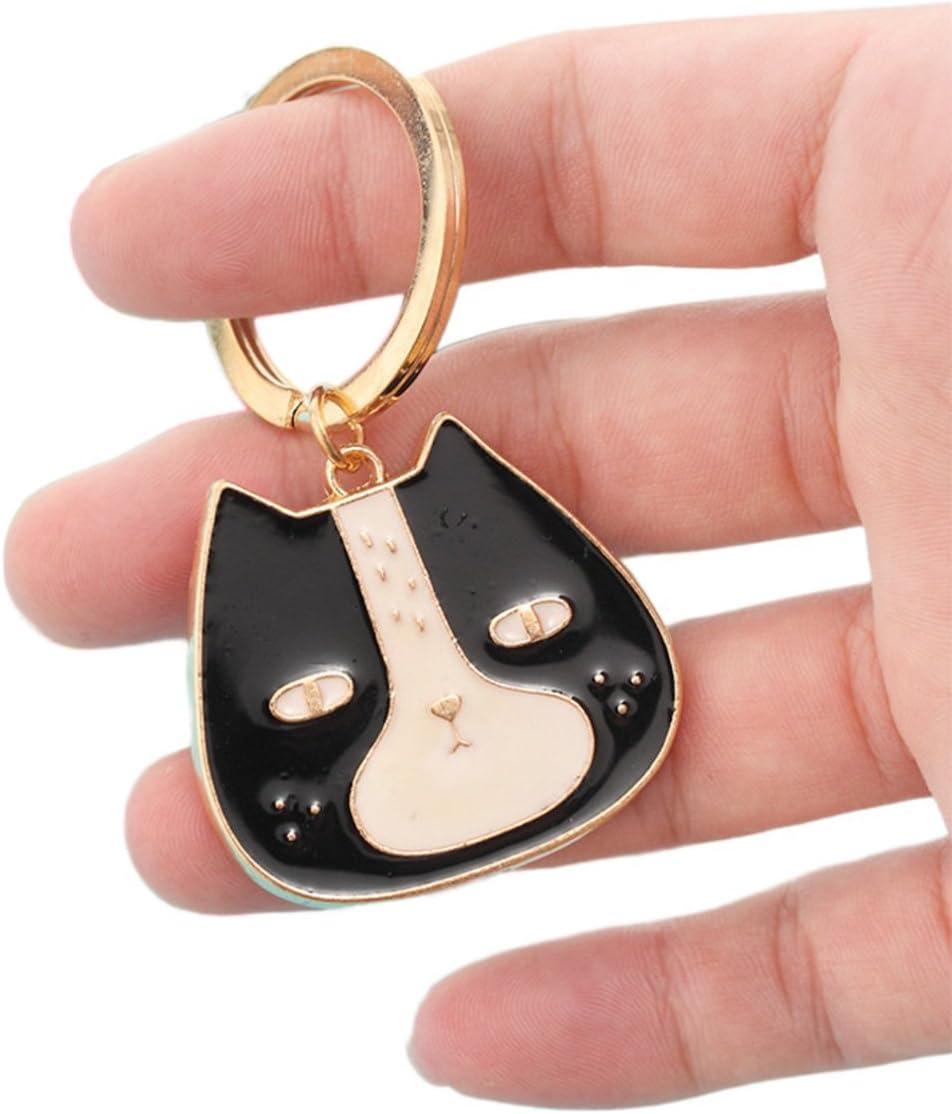 Demarkt 1 Pcs Porte-Cl/és//Trousseau Mignon Chiens Keychain Couple Cl/é De Voiture T/él/éphone Sac Pendentif Cadeau Accessoires 8.4 3.5cm Bulldog Blanc