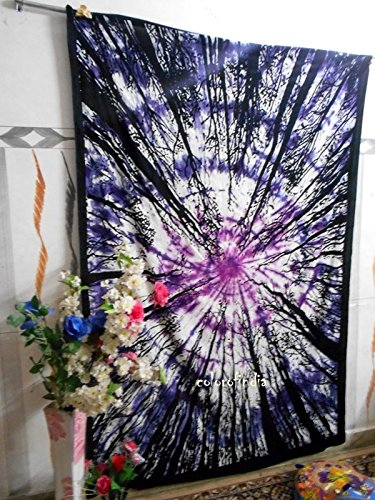Future Handmade New launched Forest twin tapestry wall tapestry hippie tapestry wall hanging Indian psychedelic tapestry mandala beach throw boho tape…
