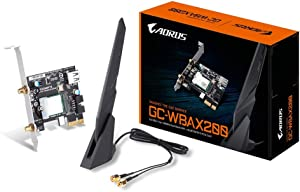 Gigabyte GC-Wbax200 2x2 802.11Ax Dual Band WiFi + Bluetooth 5 PCIe Expansion Card