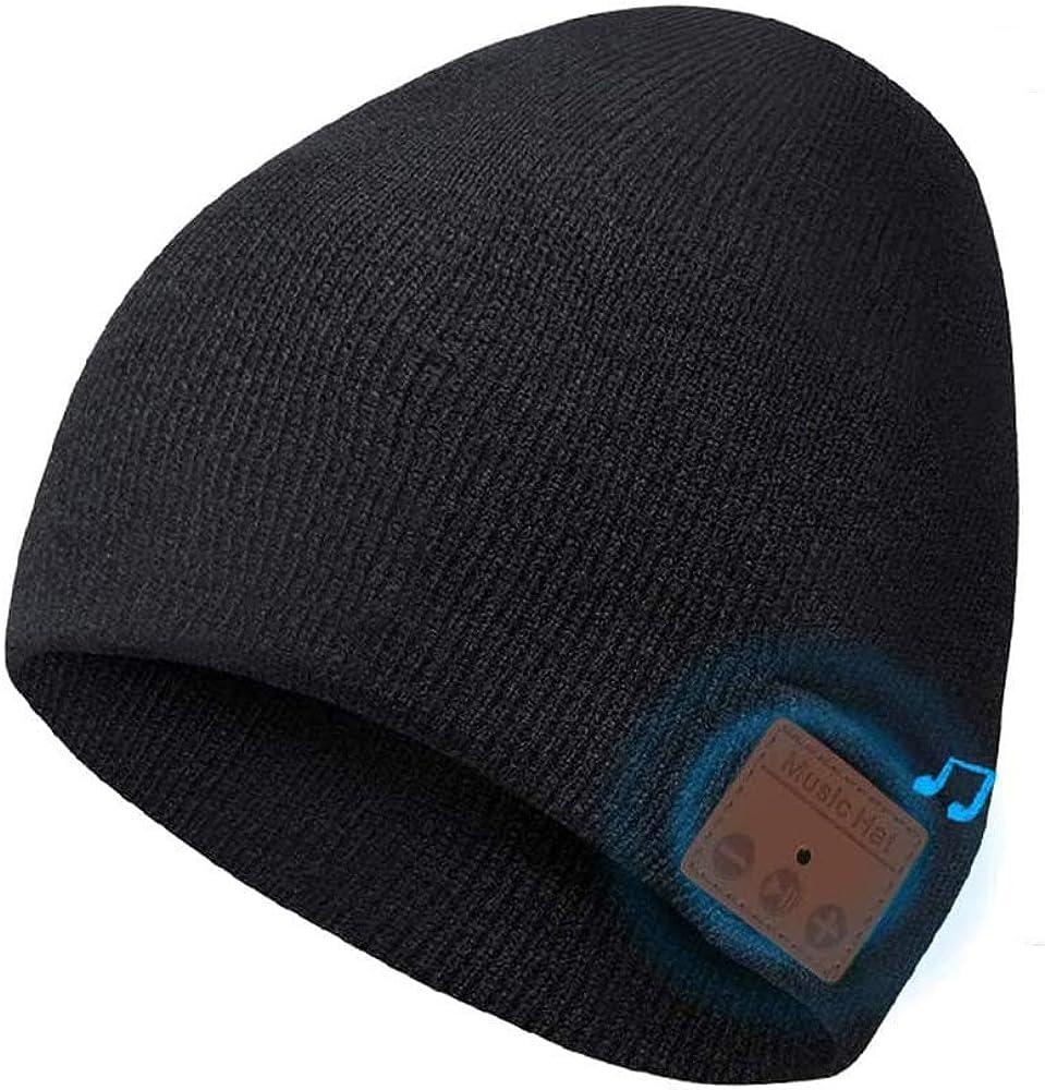 Bluetooth Beanie Hat, Bluetooth 5.0 Music Running Hat Actualizado, Auriculares Inalámbricos Altavoces Incorporados con USB Recargable para Deportes, Regalo para Hombres y Mujeres,