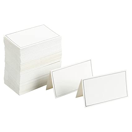 amazon com pack of 100 place cards small tent cards foldover