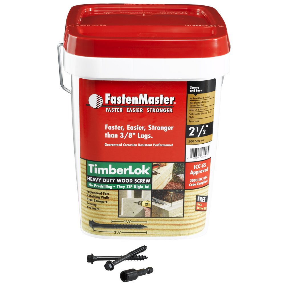 FastenMaster FMTLOK212-500 TimberLOK Heavy-Duty Wood Screw, 2-1/2 Inches, 500-Count by FastenMaster (Image #2)