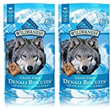 BLUE Wilderness Grain-Free Denali Biscuits with Wild Salmon, Venison, & Halibut Dog Treats 8-oz, 2 Pack