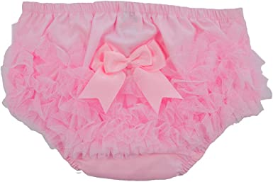 Diaper Covers Frill Back Pants White//Pink Trims Soft Touch Baby Girls Frilly Nappy Cover Knickers