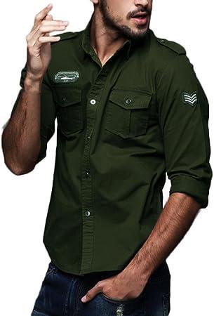 Camisa militar hombre