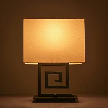 Lámpara de Mesa Estilo Chino Backlash Tela Dormitorio ...