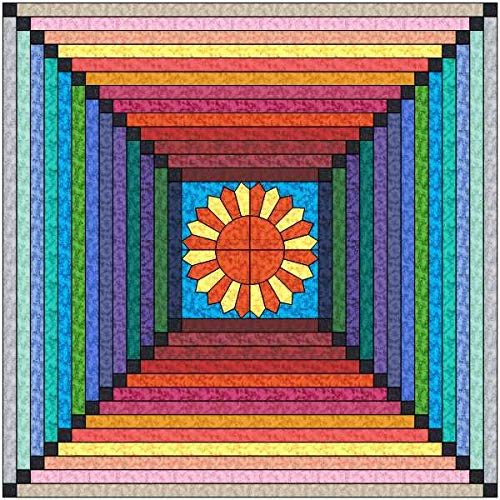 Quilt Kit Lost in Summer/Bright Marble Strip Quilt/Beginner by Material Maven