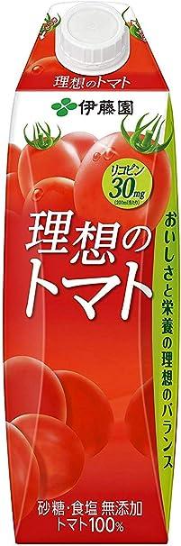 伊藤園 理想のトマト 1L紙パック×6本入×3ケース(18本)