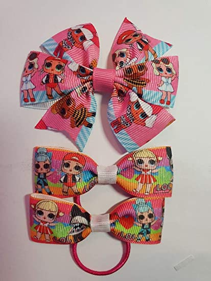 New Lol Surprise Style Multi Pack Hairbows and Clip ribbon featuring Lol  girls fashion boutique hair 32f70e49a6