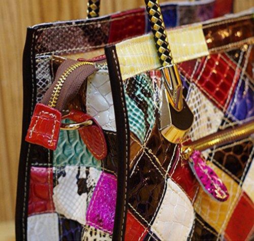 Eysee - Cartera de mano para mujer Varios colores multicolor 32cm*22cm*10cm multicolor