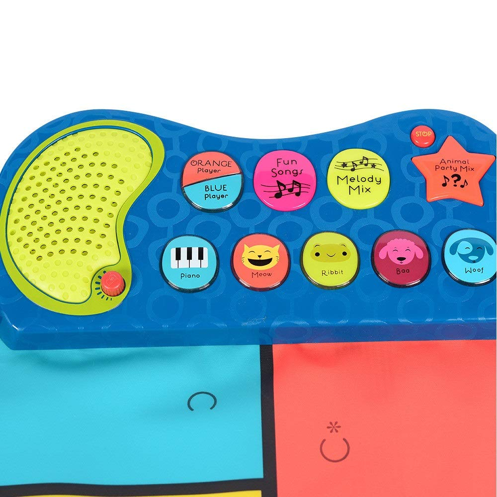 Play Keyboard Mat 54 Inches Musical Keyboard Playmat 16 Keys Battery Operated Foldable Floor Keyboard Piano Dancing Activity Mat With Adjustable Vol Step And Play Instrument Toys For Toddlers Kids Dif by GAOCAN-gq (Image #3)